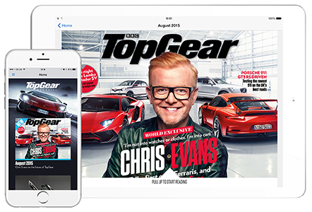 TopGear created with WoodWing´s HTML5 authoring tool Inception