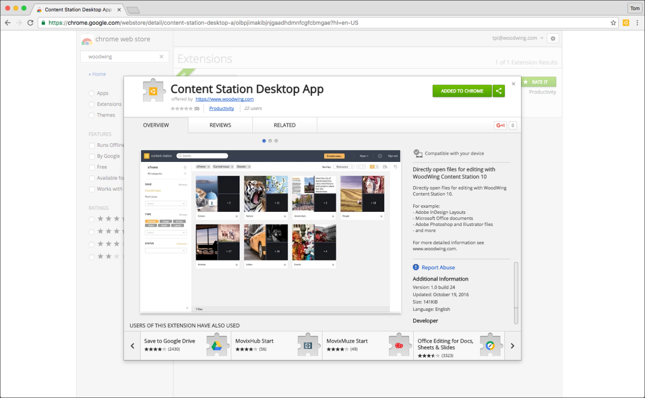 Content Station 10 now integrated with Google Chrome | WoodWing Software